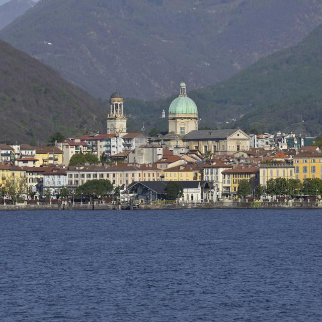 """""""Lake Maggiore, Intra."""" stock image"""