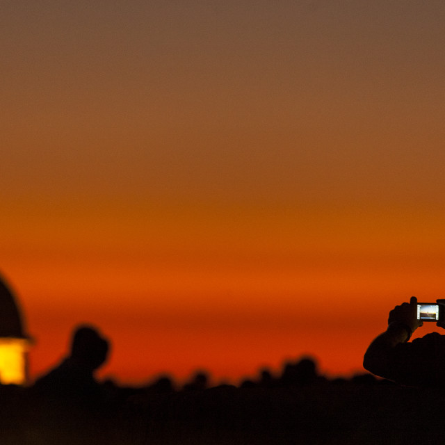 """""""Sunset and Mobile"""" stock image"""