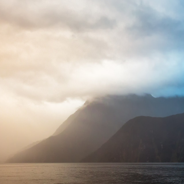 """The Dream of Milford Sound"" stock image"