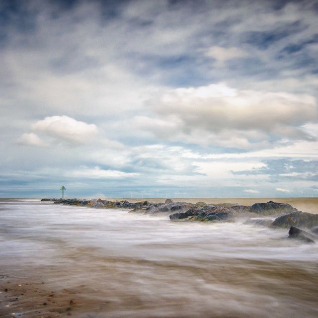"""Rough Sea Sunny Day 2"" stock image"