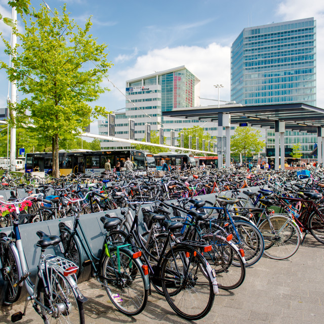 """""""Bicycle parking area"""" stock image"""