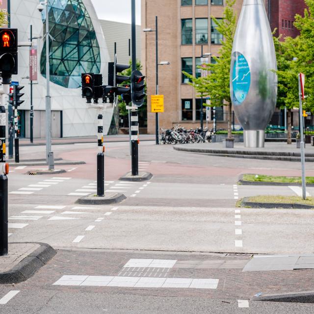 """Eindhoven empty road"" stock image"