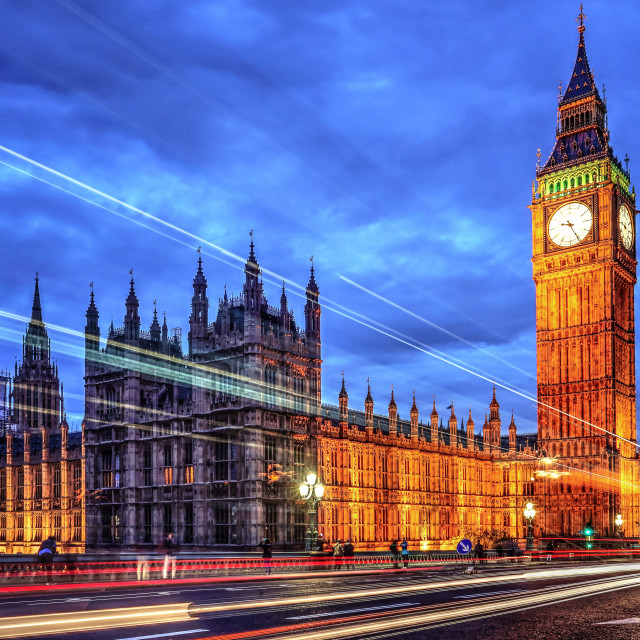 """Big Ben & The Lights"" stock image"