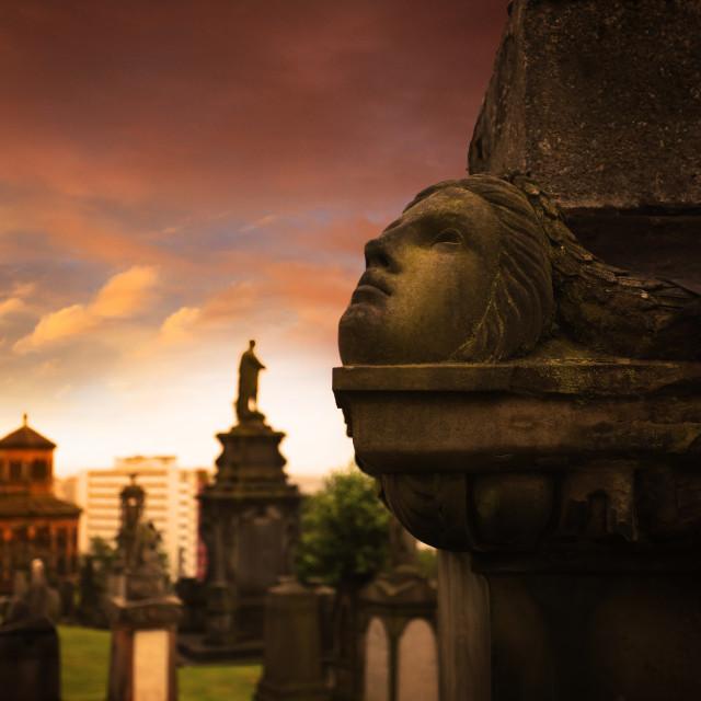 """""""Necropolis Graveyard Glasgow"""" stock image"""
