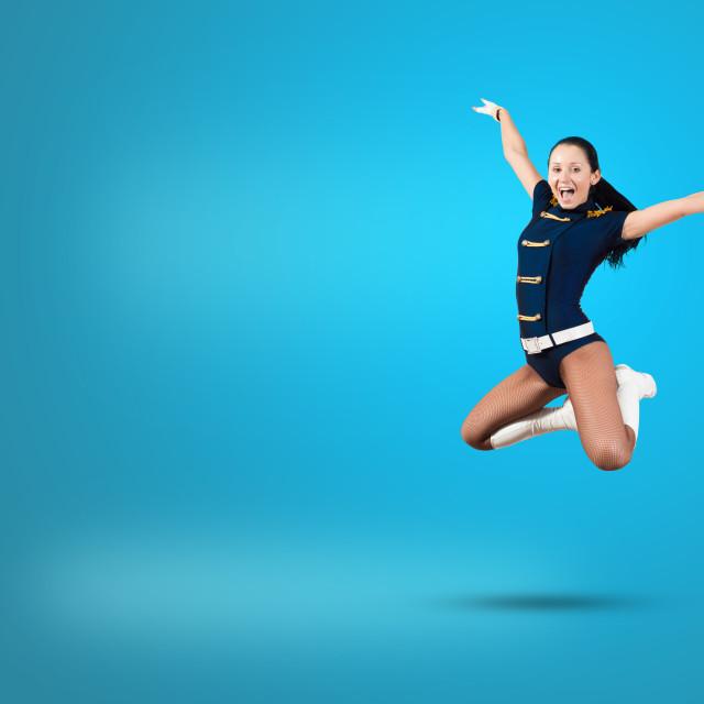 """Cheerleader girl"" stock image"