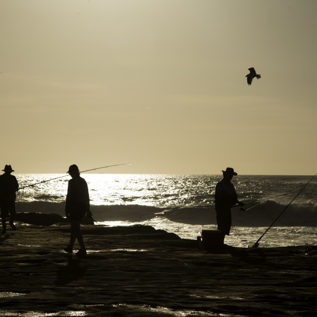 """Rock Fishers"" stock image"