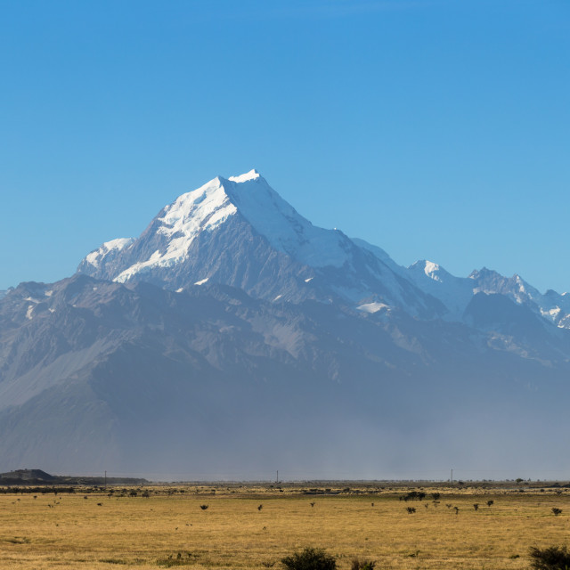 """The great NZ scenery - Aoraki / Mount Cook"" stock image"