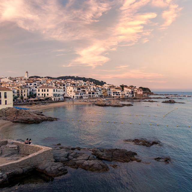 """Sunset in Costa Brava"" stock image"