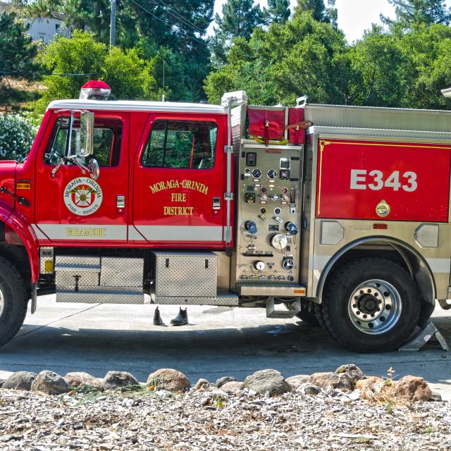 """Moraga Orinda fire truck"" stock image"