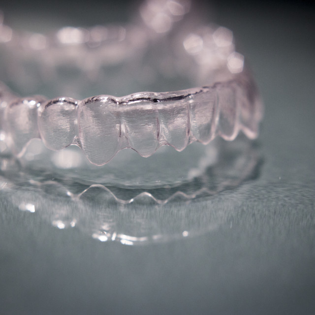 """Invisible orthodontics"" stock image"