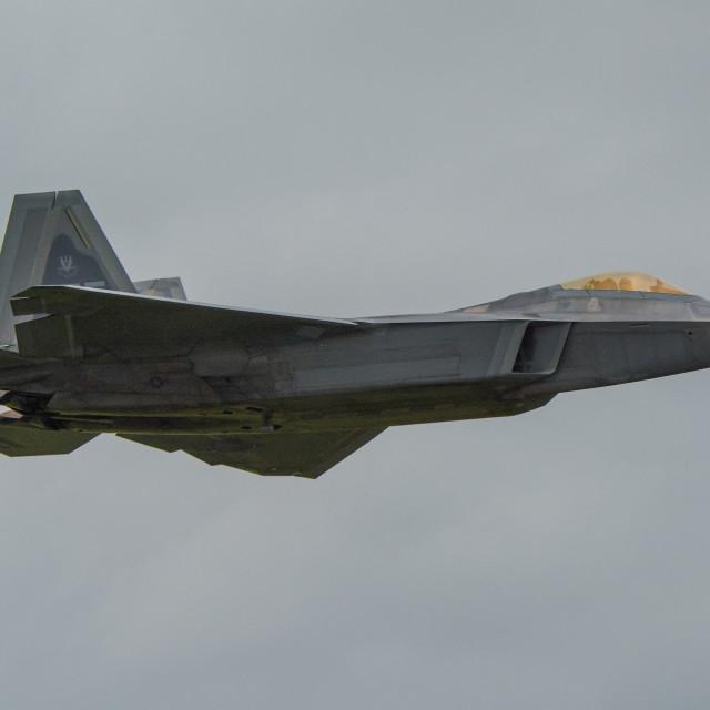 """Lockheed Martin F-22 Raptor"" stock image"