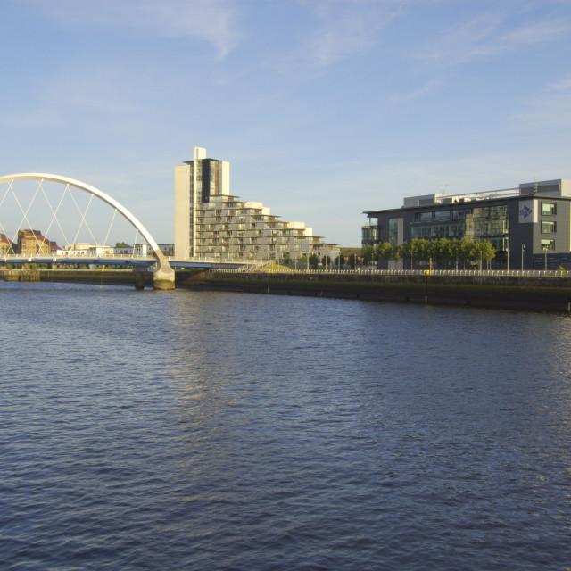 """""""Glasgow Arc Bridge"""" stock image"""