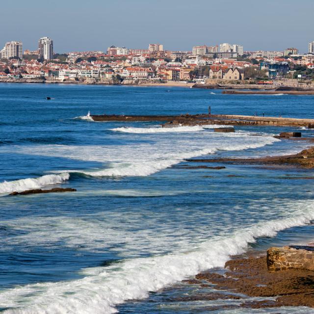 """Atlantic Ocean Coast in Cascais and Estoril"" stock image"