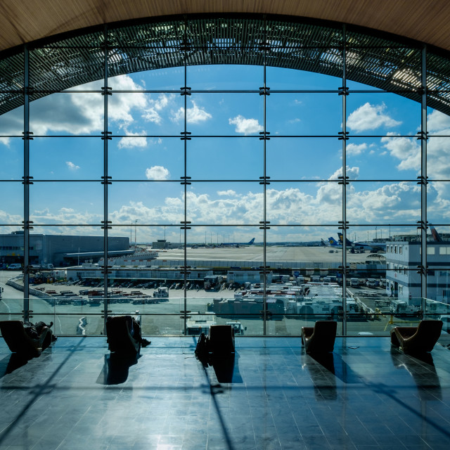 """Charles de Gaulle, Airport, Paris"" stock image"