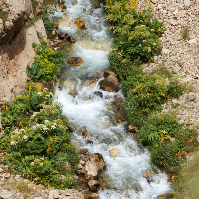 """Beautiful river in Tehran mountains"" stock image"