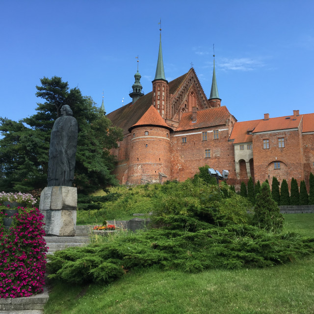 """Cathedral Hill in Frombork"" stock image"
