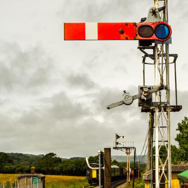 """railway signal"" stock image"