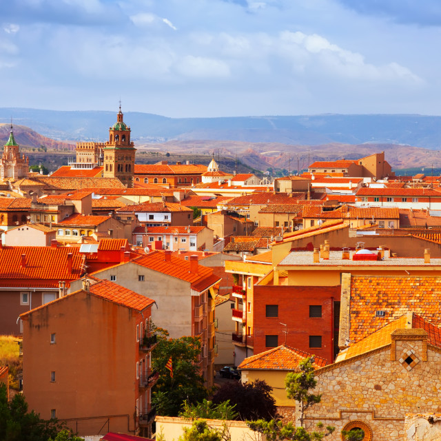 """""""Teruel from hill in summer day"""" stock image"""