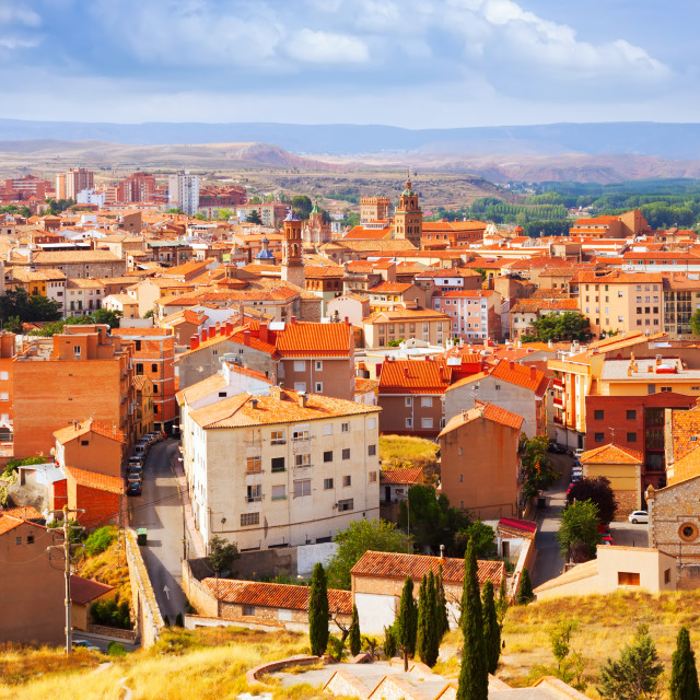 """""""Roofs of Teruel in summer day"""" stock image"""