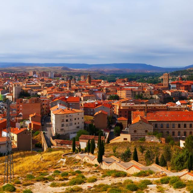 """""""General view of Teruel"""" stock image"""