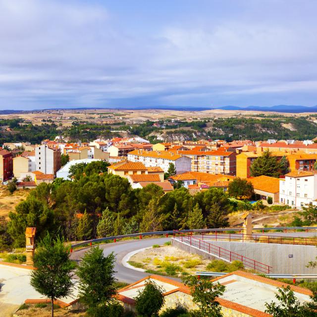 """""""Panoramic view of Teruel"""" stock image"""