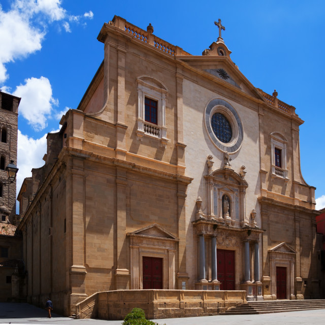 """""""Cathedral of St. Peter the Apostle in Vic"""" stock image"""