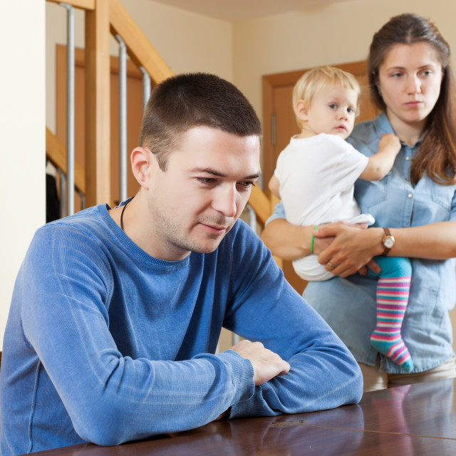 """Family conflict"" stock image"