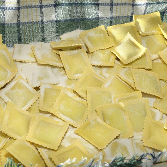 """fresh pasta, ravioli."" stock image"