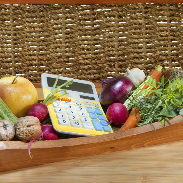 """Food spending."" stock image"