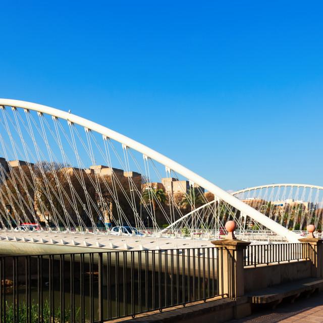 """""""Puente del Hospital over Segura. Murcia"""" stock image"""