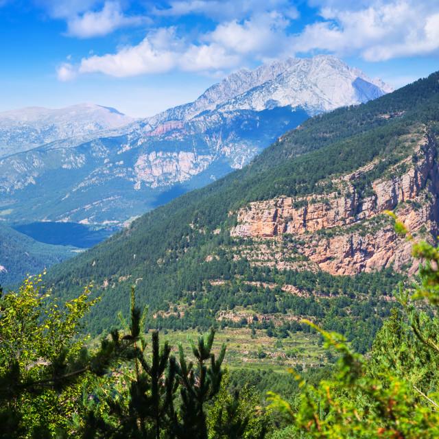 """Generak view of mountains landscape"" stock image"