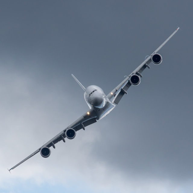 """Airbus A380"" stock image"