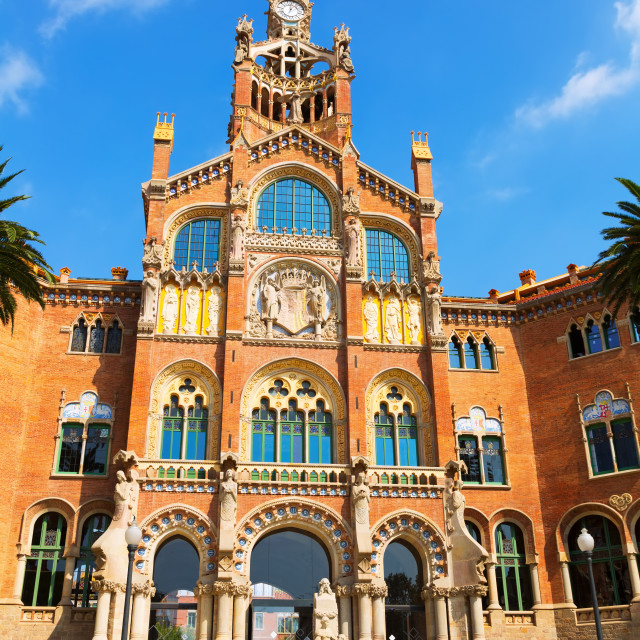 """""""Hospital de la Santa Creu i Sant Pau in Barcelona"""" stock image"""
