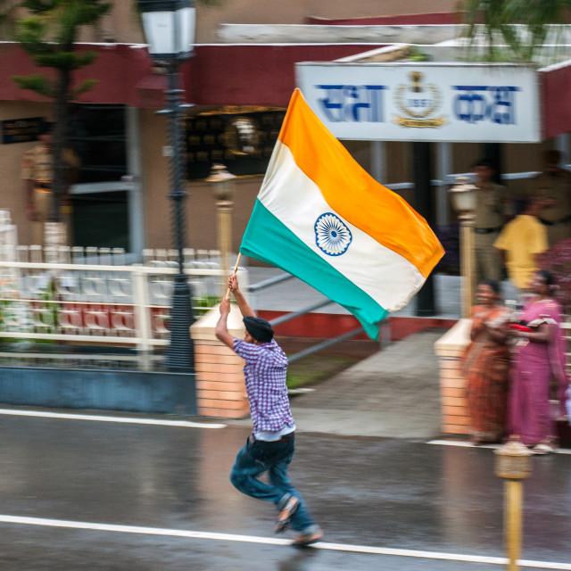 """Waving Indian Flag"" stock image"