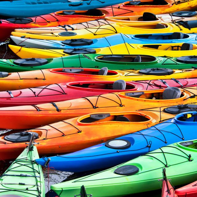 """Kayak grouping"" stock image"