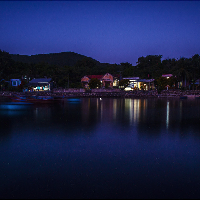 """Island by night - Nha Trang / Vietnam"" stock image"