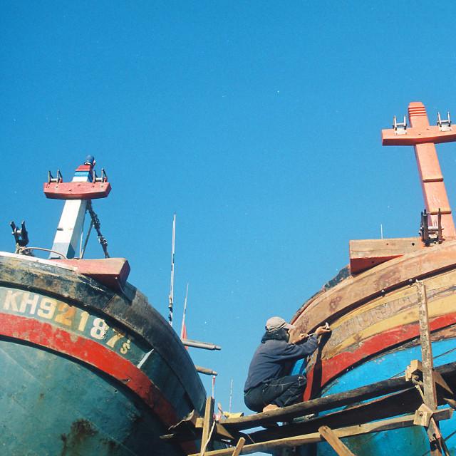 """Shipyard - Nha Trang / Vietnam"" stock image"