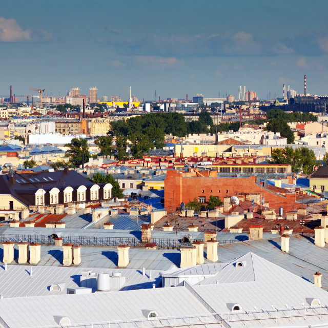 """Top view of Saint Petersburg"" stock image"