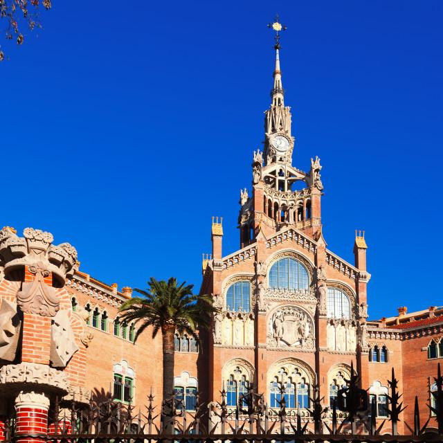 """Facade of hospital de Sant Pau. Barcelona"" stock image"