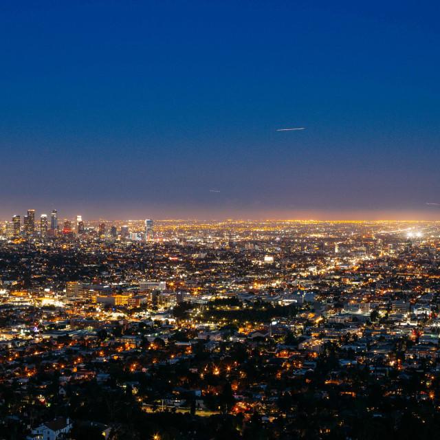 """Night of Los Angeles"" stock image"