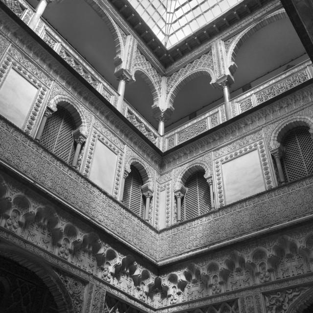 """""""Seville Alcazar Patio de las Munecas"""" stock image"""