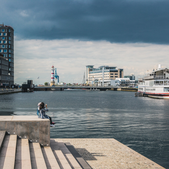 """""""Cityscape from Malmo Sweden"""" stock image"""