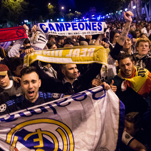 """Real Madrid fans"" stock image"