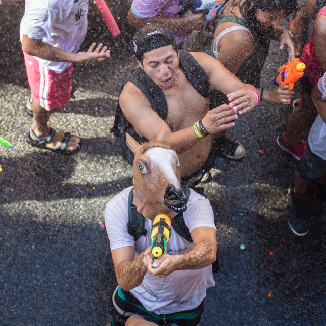 """""""Water fight"""" stock image"""