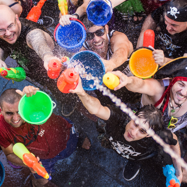 """Water fight"" stock image"