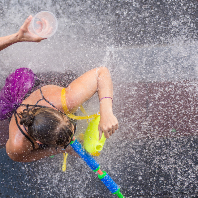 """""""Getting wet"""" stock image"""