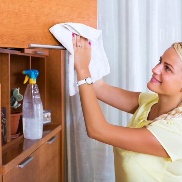 """Woman having regular clean-up"" stock image"