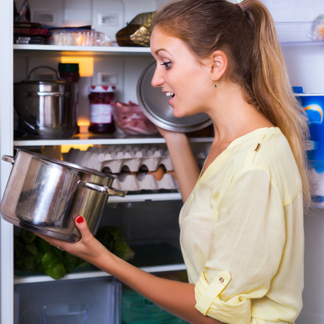 """""""Housewife posing with soup"""" stock image"""
