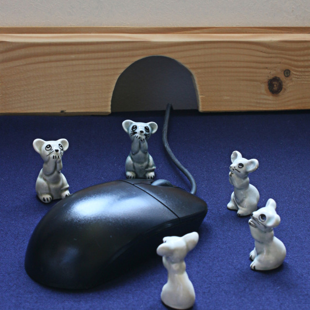 """""""Scared mice"""" stock image"""