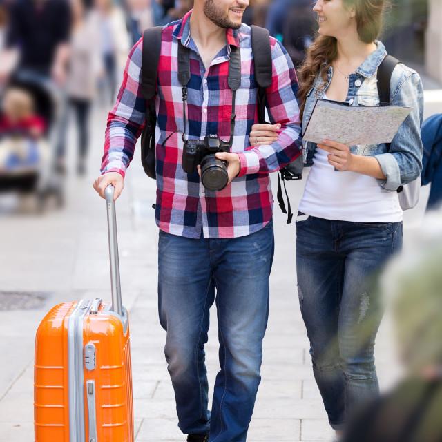 """travelers heading to hotel"" stock image"